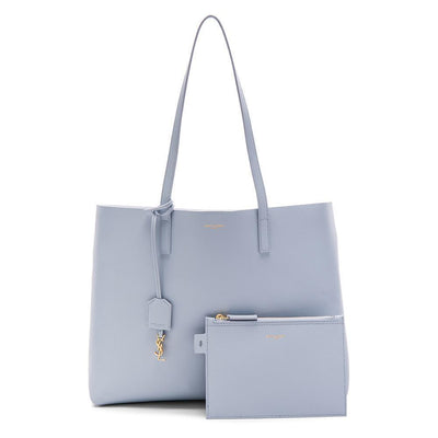 Saint Laurent YSL Women's Baby Blue Shopping Tote 394195 Handbags Saint Laurent