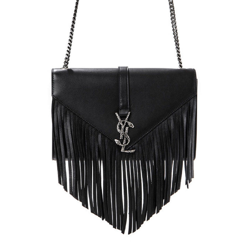 Saint Laurent YSL Women's Black Laque Crossbody 418338 Handbags Saint Laurent