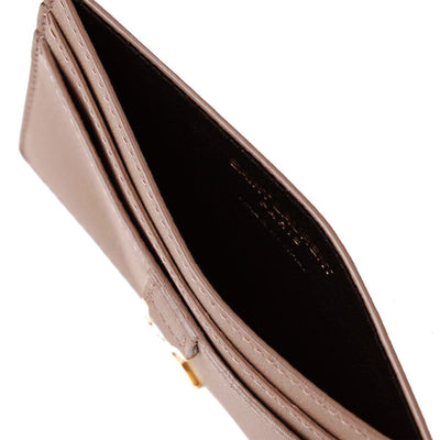 Saint Laurent YSL Women's Nude Credit Card Holder 423480 Wallets Saint Laurent