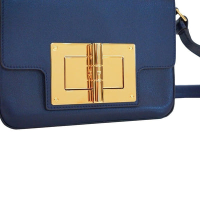 Tom Ford Day Medium Natalia Day Bag Shoulder Bag Blue Leather L0820T Handbags Tom Ford