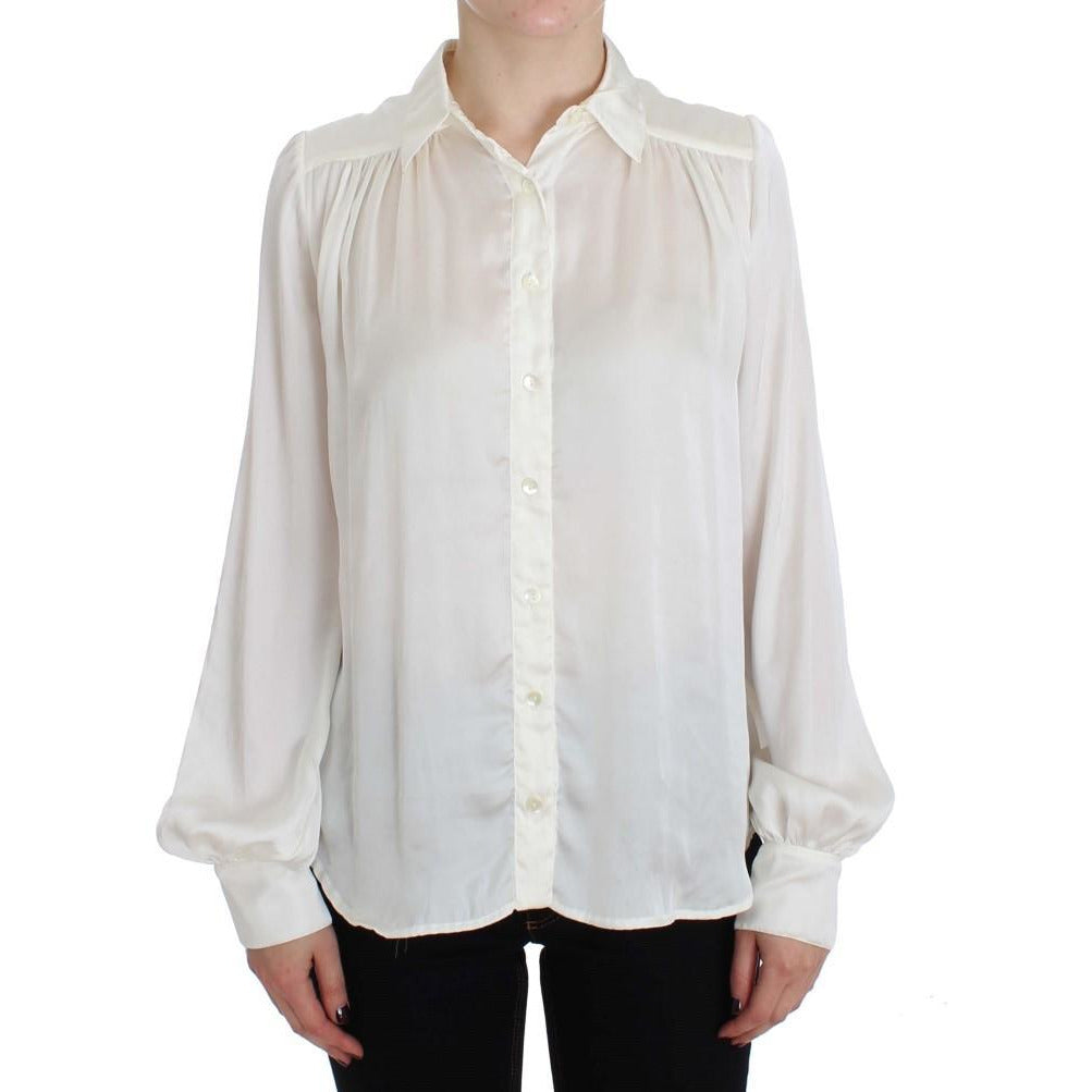White Button Down Blouse Shirt PLEIN SUD