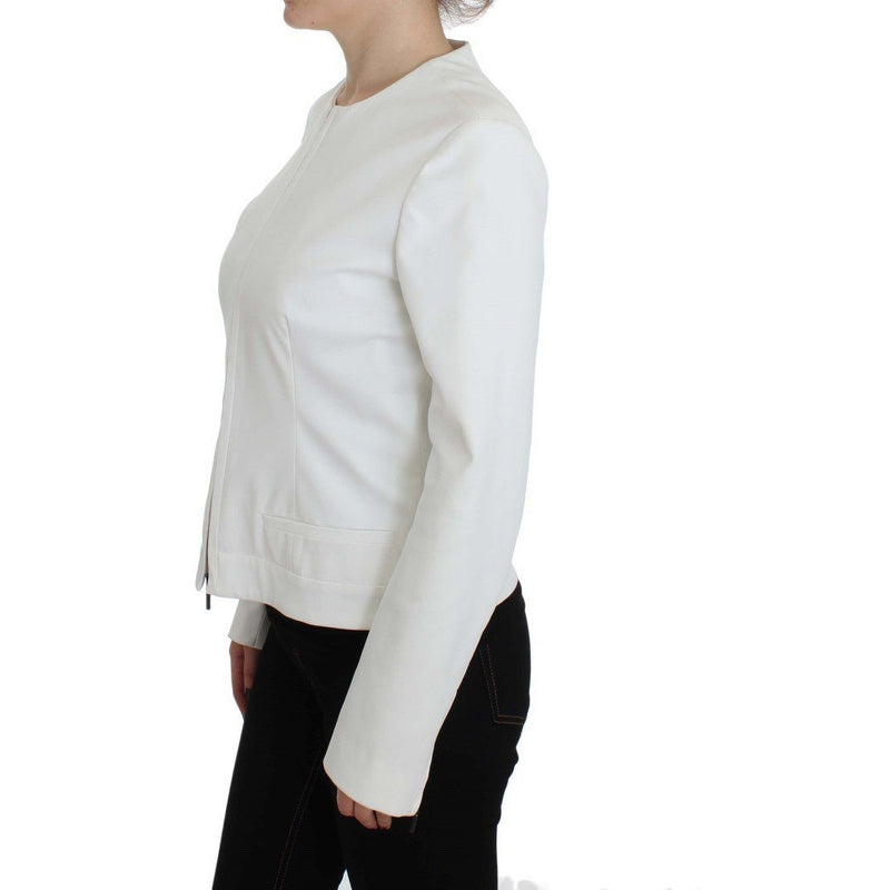 White Stretch Coat Jacket PLEIN SUD