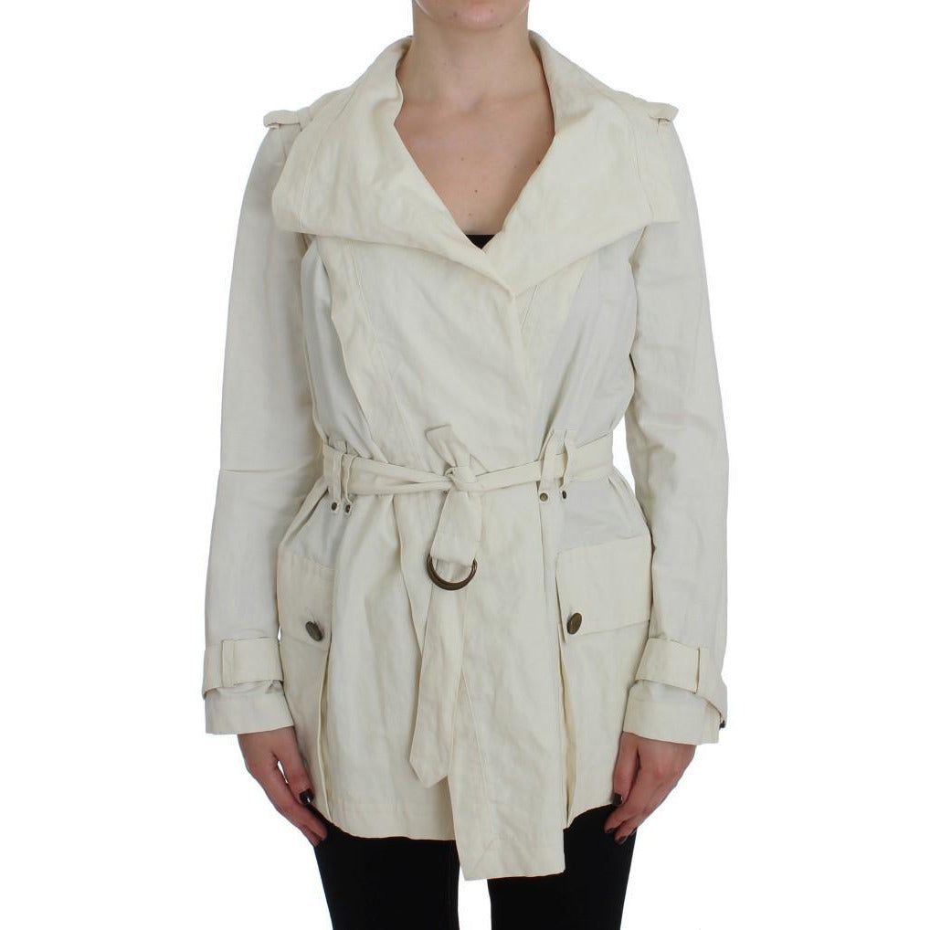 White Trench Coat Jacket PLEIN SUD