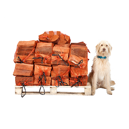 25 x nets of seasoned very dry oak logs - approx 10 logs per bag SOLD OUT