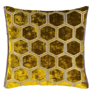 Manipur Ochre Decorative Pillow