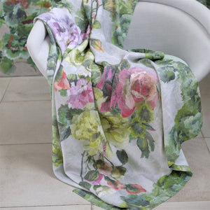 Grandiflora Rose Epice Linen Throw
