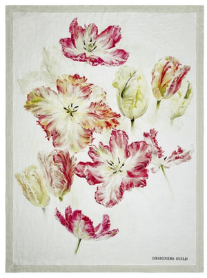 Spring Tulip Buttermilk Throw