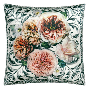 Pahari Damask Tuberose Decorative Pillow