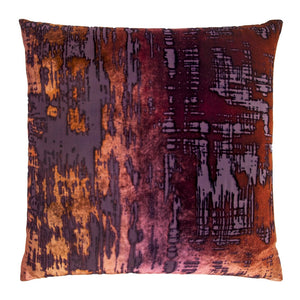 "Velvet Brush Stroke 20"" Wildberry Pillow"