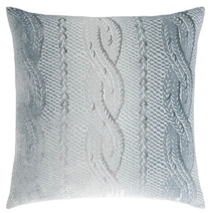 Cableknit Silver Pillow