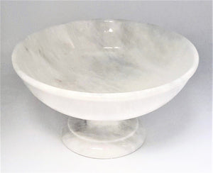 "Carpo Pearl White 12"" pedestal bowl"