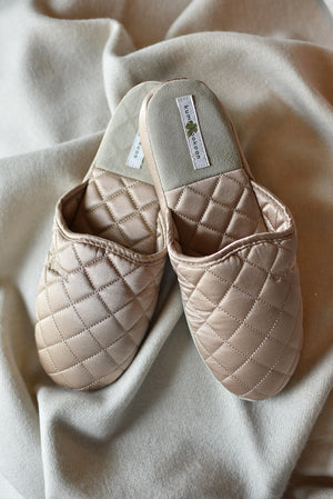 Champagne Silk Slippers