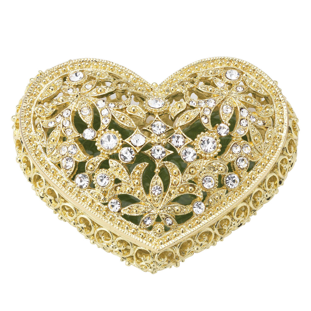 Gold Luxembourg Heart Box