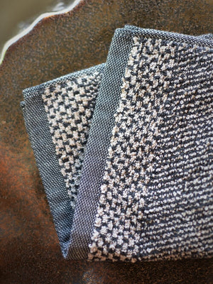 Leitner Tweed Anthracite Wash Cloth