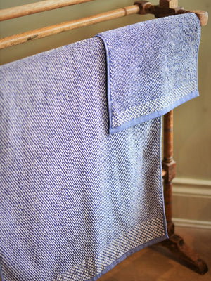 Leitner Tweed Navy Blue Towels