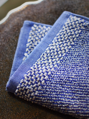Leitner Tweed Navy Blue washcloth