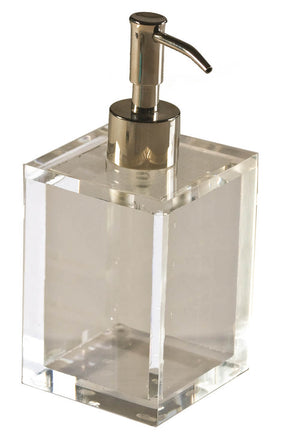 Lucite Clear Ice Lotion/ Soap Pump