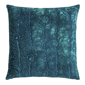 Peacock Malachite Pillow