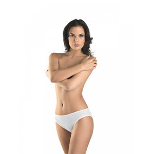 Cotton Seamless Midi Brief White