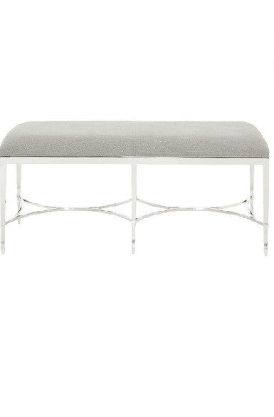 Criteria Metal Upholstered Bench