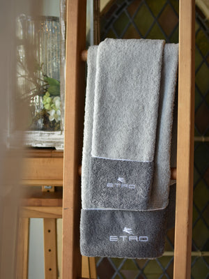 ETRO Gray Two-tone Towels
