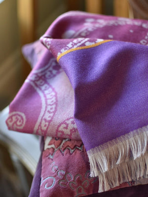 ETRO Fringed Paisley Throw