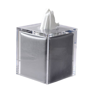 Lucite Clear Ice Boutique Tissue Holder