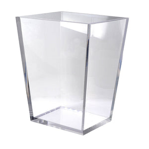 Lucite Clear Ice Wastebasket