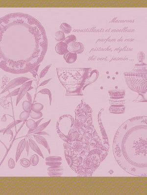 "Macarons Rose Tea Towel 31"" x 24"""
