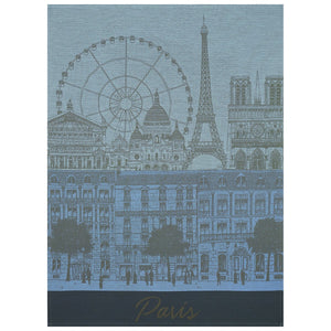 "Paris Panorama Azure Tea Towel 31"" x 24"""