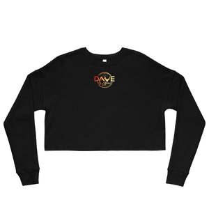 Women's Fleece Crop Sweatshirt - Signature Sunset Logo - Dave D'Marco Clothing