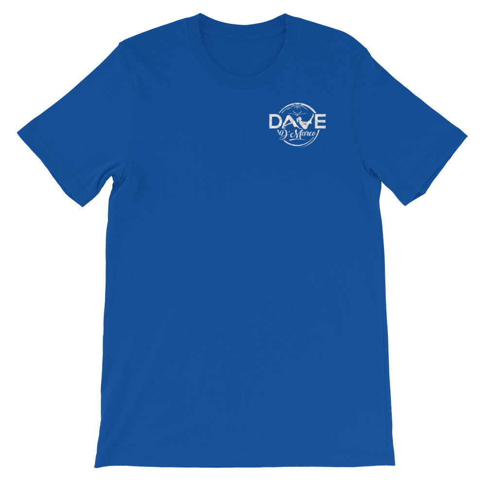 Short-Sleeve Unisex T-Shirt- White Leather - Dave D'Marco Clothing