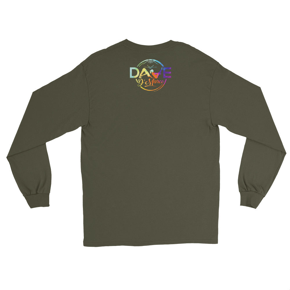 Cotton Long Sleeve T-Shirt - Tye Dye Logo - Dave D'Marco Clothing