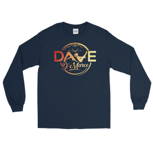 Cotton Long Sleeve T-Shirt - Signature Sunset Logo - Dave D'Marco Clothing