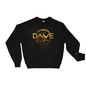Champion Crewneck Sweatshirt - Gold Logo - Dave D'Marco Clothing