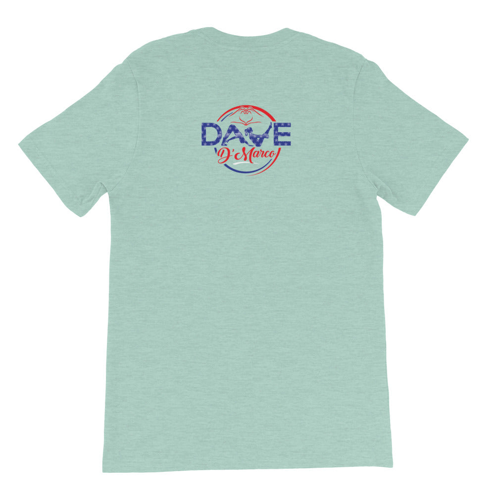 Short Sleeve T-Shirt - 4th of July Inspired Logo - Dave D'Marco Clothing