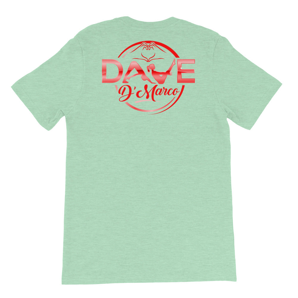Short-Sleeve Unisex T-Shirt- Bright Red - Dave D'Marco Clothing
