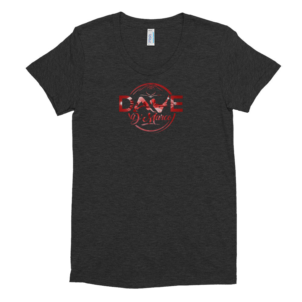 Women's T-Shirt - Red Diamond Logo - Dave D'Marco Clothing