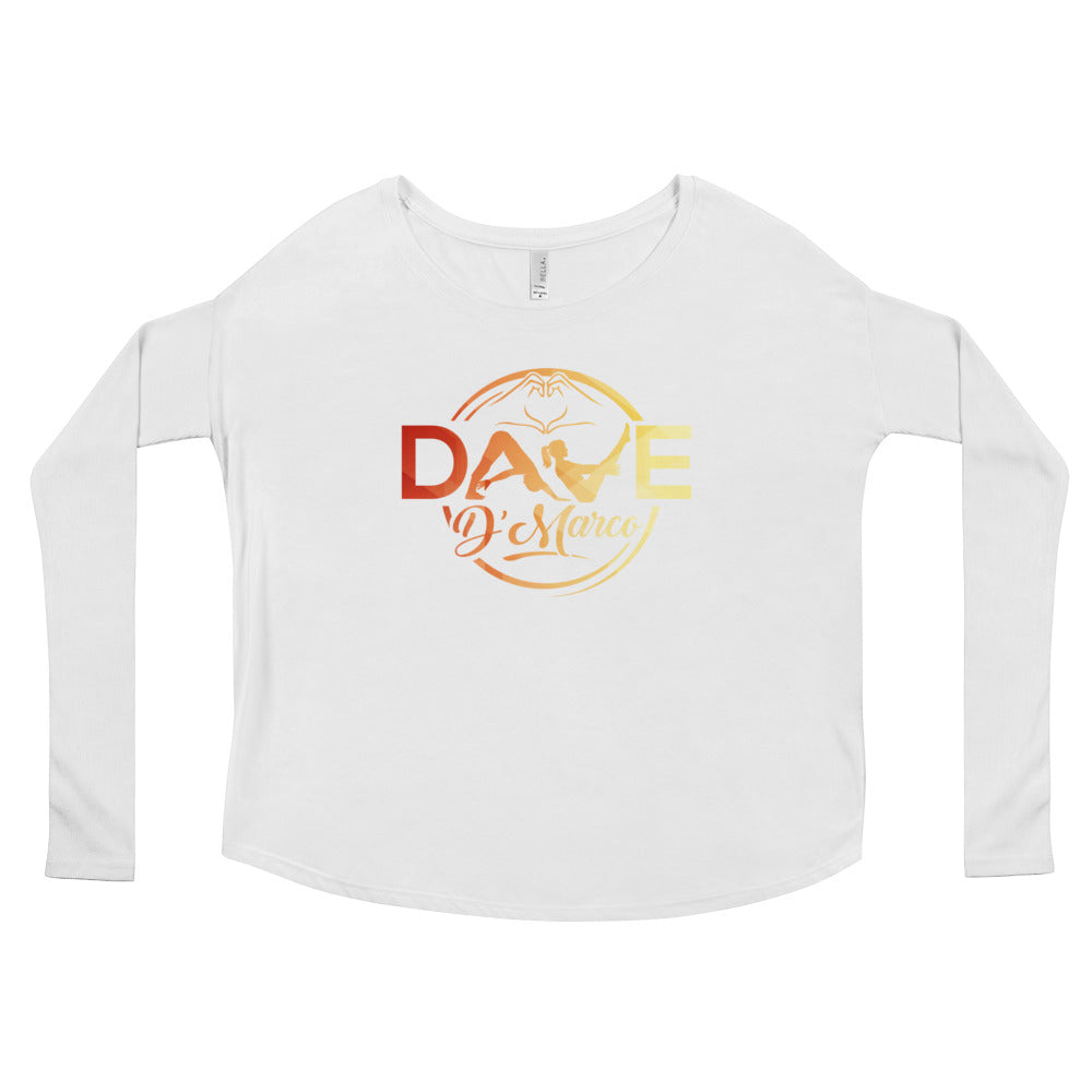 Women's Relaxed Long Sleeve Tee - Signature Sunset Logo - Dave D'Marco Clothing