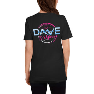 Softstyle T-Shirt - Pink & Teal Logo - Dave D'Marco Clothing