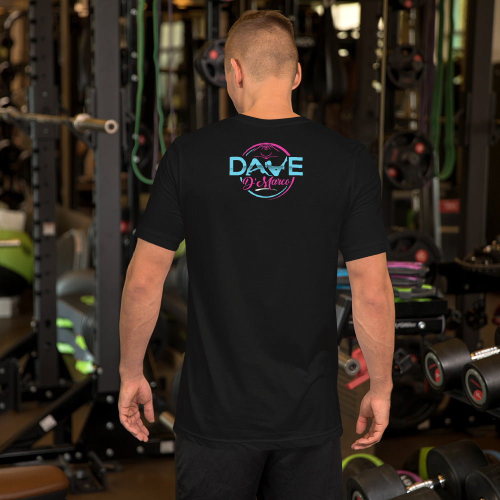 Short Sleeve Jersey T-Shirt - Pink & Teal Logo - Dave D'Marco Clothing