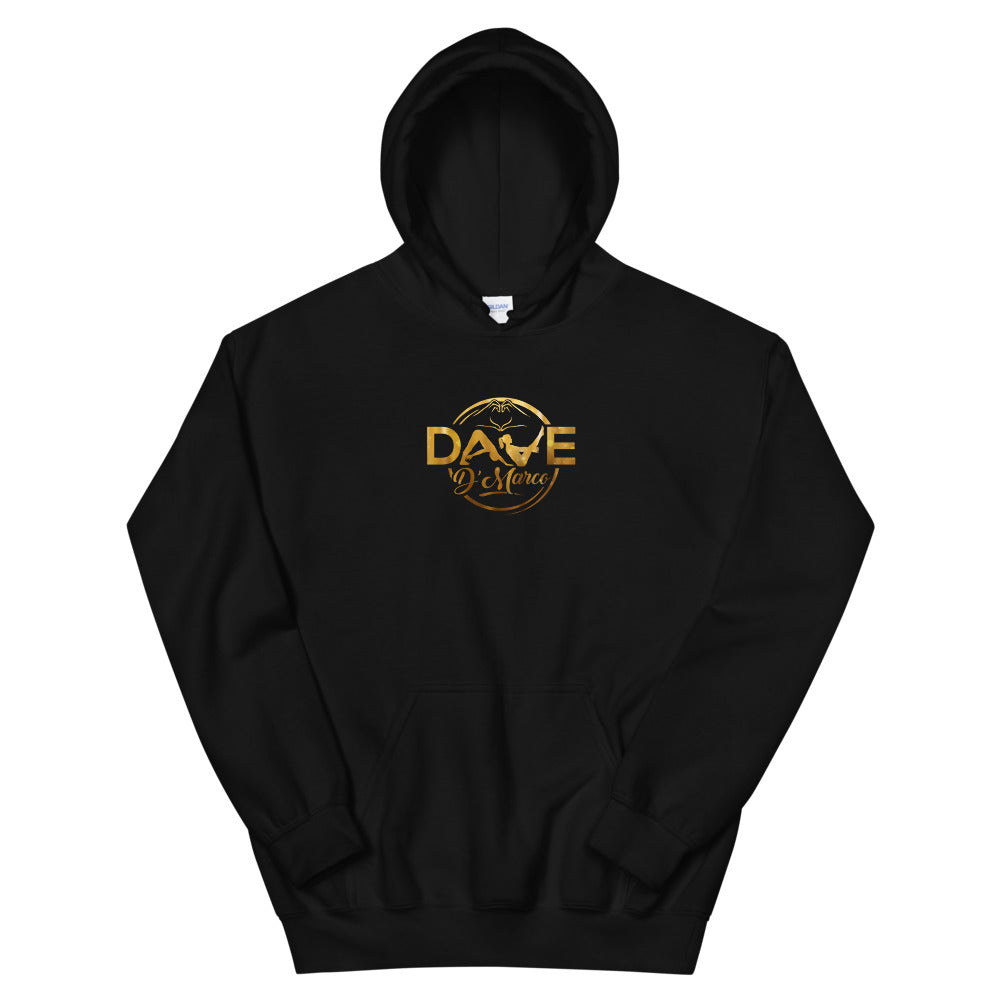 Hooded Sweatshirt - Gold Logo - Dave D'Marco Clothing