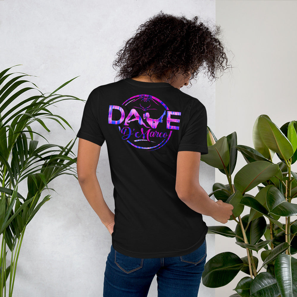 Short-Sleeve Unisex T-Shirt- pink blue mix - Dave D'Marco Clothing