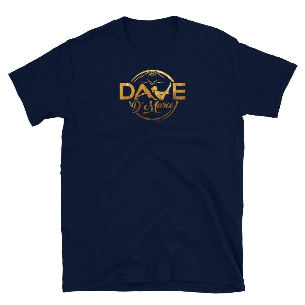 Softstyle T-Shirt - Gold Logo (Front & Back) - Dave D'Marco Clothing