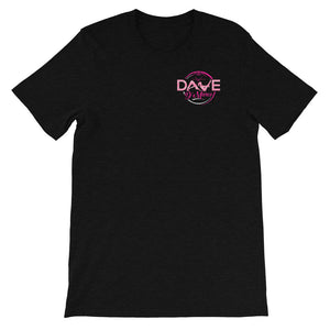Short Sleeve Jersey T-Shirt - Pink Logo (Front & Back) - Dave D'Marco Clothing