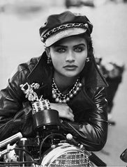 Helena Christensen recreates Marlon Brando