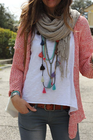 Scarf & necklace inspo