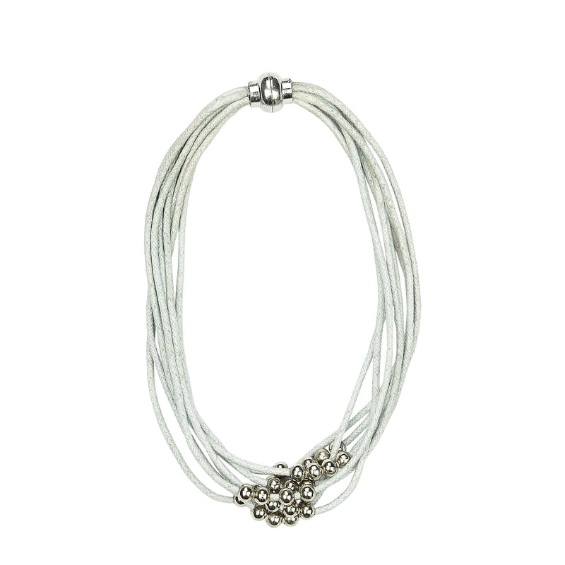 EVELYN Bracelet /Choker necklace - Grey blue
