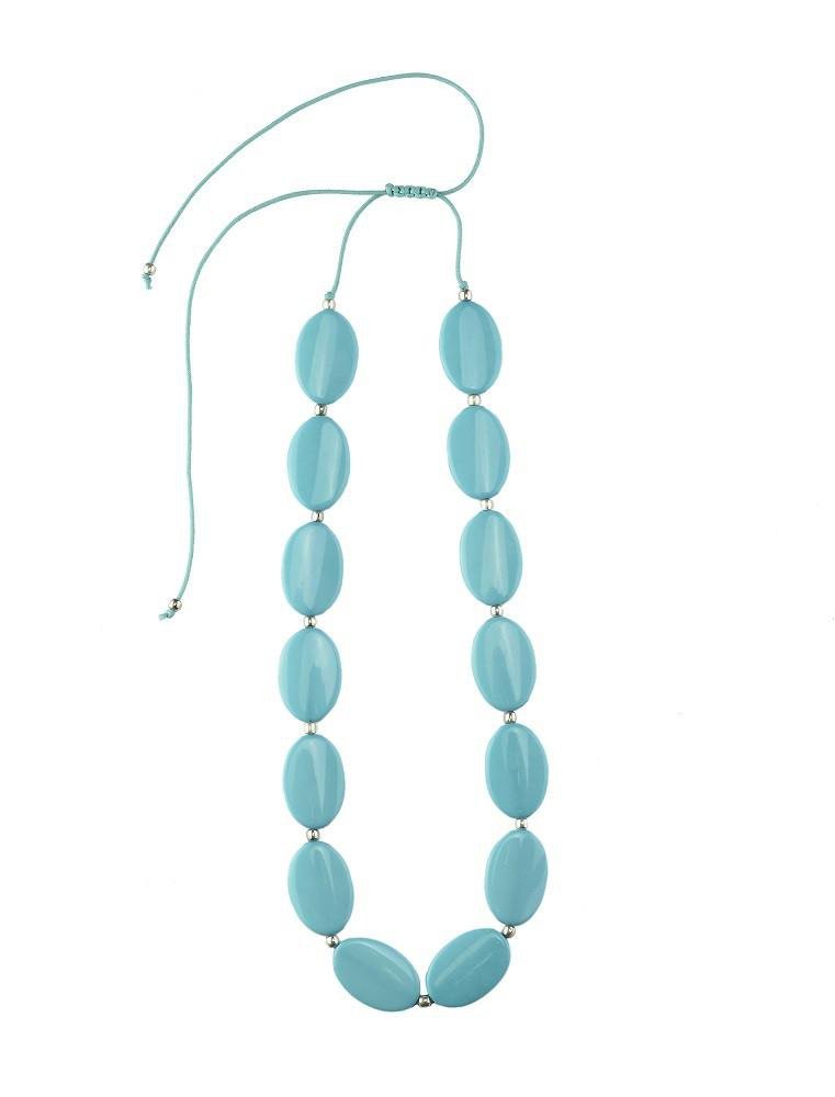 Klara Necklace in Blue, Turquoise and Red