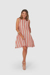 AMY Dress | Red Stripe
